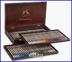 Caran Dache 84 Extra Fine Dry Pastel Pencils Wooden Box Gift Artist Sketch Set