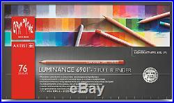 Caran d'Ache Luminance 6901 76 Colour Pencil Set Paper Box Creative Art Material