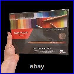 Caran d'Ache Luminance 6901 Colored Pencils Set of 40 Assorted Paper Box