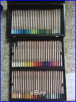 Caran d'Ache Pastel Pencil in aWood Box set of 84