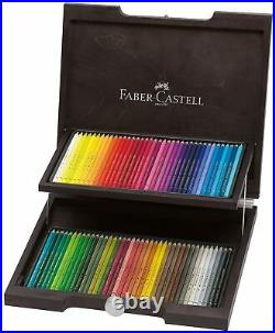 Colouring pencils Faber Castell polychromos artists drawing set in wooden box