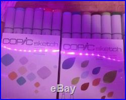 Copic Sketch Markers Lot of 47 Markers And A 0.5 Sketch Pen. New In Box