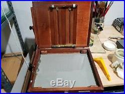 Craftech Sienna Plein Air Pochade Box L Easel (CT-PB-1012) Large USED