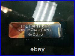 Craig Young Handmade Brass Watercolor Paint Box Dark Green New