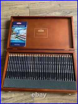 DERWENT FINE ART STUDIO COLOURING PENCILS SET 72 Pencils WOODEN BOX NEW UNUSED