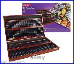 DERWENT STUDIO LUXURY WOODEN BOX of 72 fine colour pencils