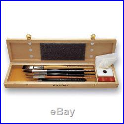 Da Vinci 8-Piece Set For Watercolor / Hagiography In Wooden Box