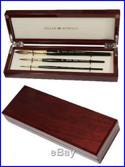 Daler Rowney Diana Kolinsky Sable Watercolour Brush Wooden Box Sizes 2, 6, 14