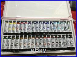 Daniel Smith Extra Fine 36 Watercolor Box Set 36 Tubes in 5ml with palette