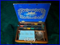 Delightful 19th cent. Winsor & Newton Artist Watercolour Box