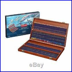 Derwent 2301844 Inktense Permanent Watercolour 72 Pieces Pencils in Wooden Box