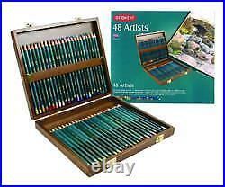 Derwent Artists' Pencils Wooden Box 48 Pencils Set
