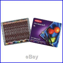 Derwent Coloursoft Pencils Tin box set 24 36 72 Genuine ARTISTS DRAWING color