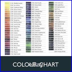 Derwent Inktense 72 Permanent Colouring Ink Blocks Tin Box Fabric Pencils
