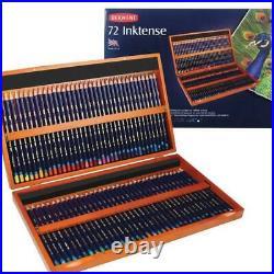Derwent Inktense Watersoluble Ink Pencils Wooden Box/Set of 72