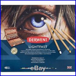 Derwent Lightfast Professional Oil Based Colour Pencils 48 Colour Wooden Box