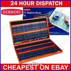 Derwent Watercolour 72 Wooden Box Set of Professional Quality Colour Pencils