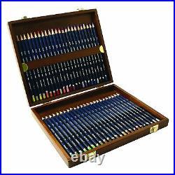 Derwent Watercolour Pencils 48 Wooden Box NEW IMPROVED