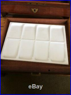 Early 1990s Vintage NOS Winsor & Newton Artists' Water Colours Box Antique