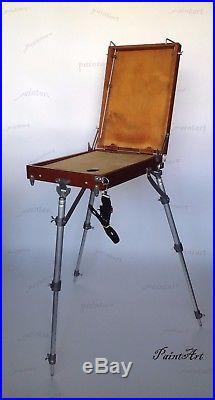 Easel Sketch Box Artists Portable Wooden. Podolsk. Russian. Minimum size Tripod