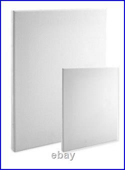Economy Stretched Canvas Panels 20X20 Box of 20 Bulk Discount 5/8 Econo White