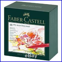 Faber-Castell Indian Ink PITT Artist Pens 48 Box #167148