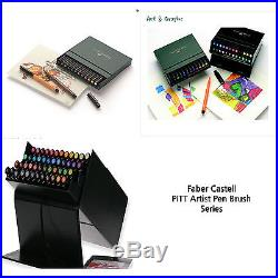 Faber-Castell PITT Artist Pen Brush 12 24 48 60 Colours Studio Box Caligraphy