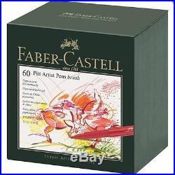 Faber-Castell PITT Artist Pen Brush Studio Box 60 Colours Professional 167160