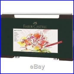 Faber Castell Pitt Artist Brush Pen Set 90 Colours Wooden Box 167400