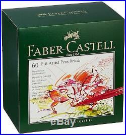 Faber-Castell Pitt Artist Pen Brush India ink Pen Studio Box of 60 167150