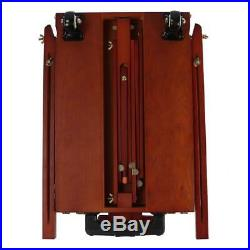Folding Wooden Easel Sketch Box Tripod Stand Oil Painting Sketching Red Brown