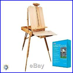 French Easel Portable Vintage Folding Table Wooden Artist Case Painters Box NEW