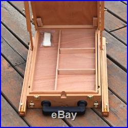 French Easel Wood Sketch Box Portable Folding Art Artist Painters Tripod Display