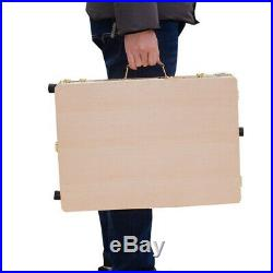 French Style Easel & Sketchbox with Storage Box, Wooden Palette, Adjustable