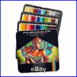 GENUINE Prismacolor Premier Soft Core 72 Coloured Pencils Tin Box Set NEW