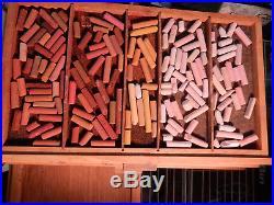 GIRAULT Pastel lot, many hundreds, storage boxes