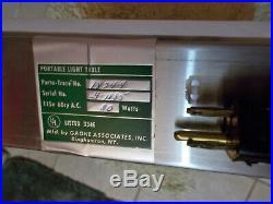 Gagne Porta-Trace Table Light Box 24X18 Tracing Art 80 Watt Lamp Model 1824-4