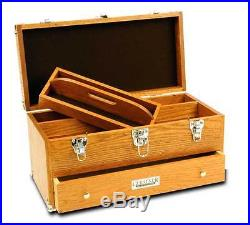 Gerstner International GI-519 Oak/Veneer Tune-Up Case Wood Tool Box Chest