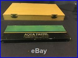 Grumbacher 40 soft pastels Wood Box + 24 Weber Aqua Pastel Crayons