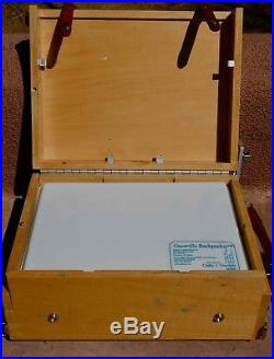 Guerrilla Painter 9x12 Plein Air Painting Pochade Box with Water Color Palette