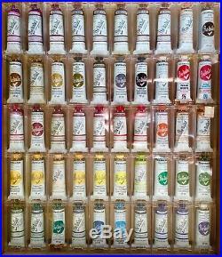 HUGE LOT NOS Grumbacher PreTested Oil Paints 50 1.25oz tubes in plastic boxes