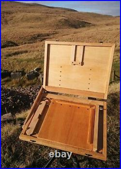 Handmade, Compact and Lightweight Pochade Box with Side Palette