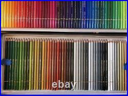 Holbain Artist Colored Pencils 150 Colors in a Paper Box, Transparent PP case