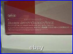 Holbain Colored Pencil Pastel Tone Set 50 Colors Paper Box From Japan New