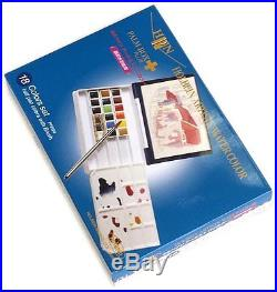 Holbein Artist Pan Color Water Color 18Colors Set PALM BOX Plus PN694 #Tracking