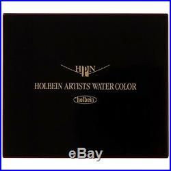 Holbein Artists Pan Color Watercolor 48 Colors Set Japan Cube Box PN699