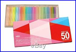 Holbein Artists Pastel Tone Colored Pencils 50 Colors paper box