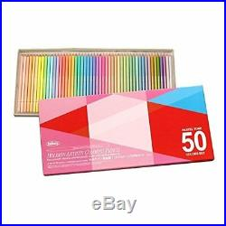 Holbein Artists Pastel Tone Colored Pencils 50 Colors paper box Japan new