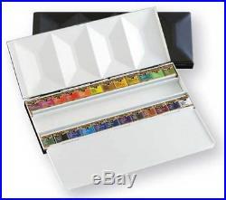Holbein Artists Watercolor Pan Color 24 Colors Set Metal Box PN682