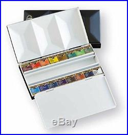 Holbein PN681 Solid watercolor paint Artist pan color 16 color in Metal box 2681
